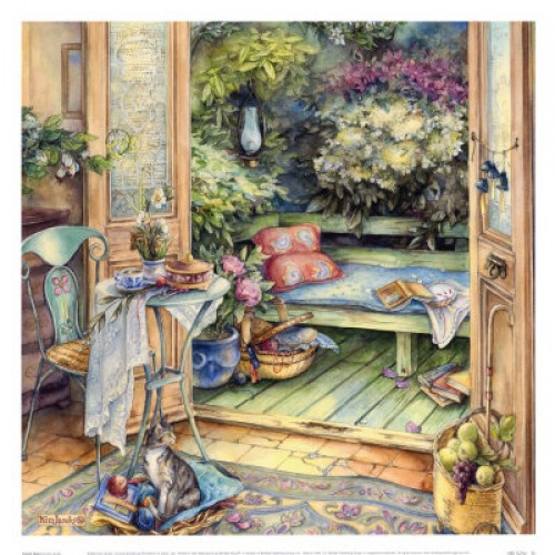 French Doors Signed Kim Jacobs Art Print