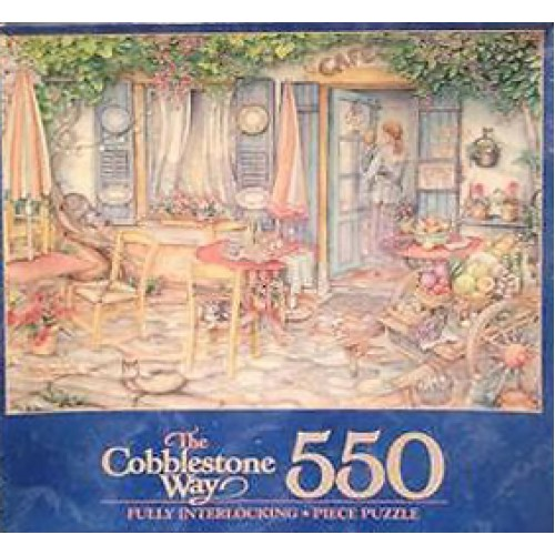 Puzzle - CAFE, PREPARING FOR THE DAY 550 Piece from MILTON BRADLEY