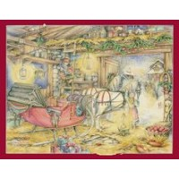 Advent Calendar Christmas Sleigh SALE  $6.50