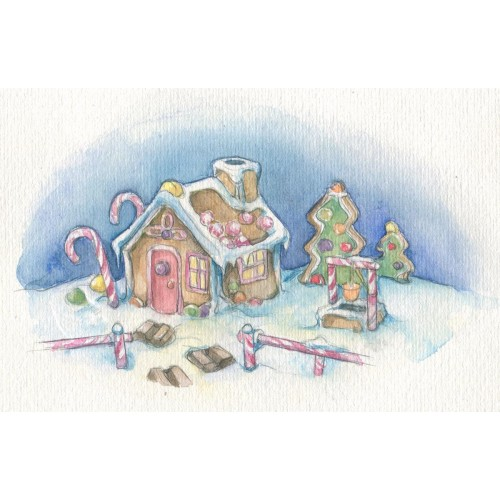 Miniature Painting - Gingerbread House