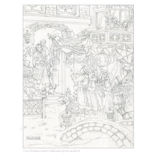 Coloring Page PDF to Download-CHRISTMAS LANTERN PROCESSION