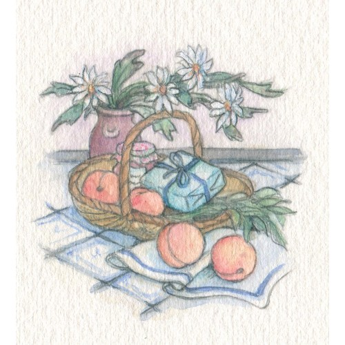 Miniature Painting - Little Peach Basket