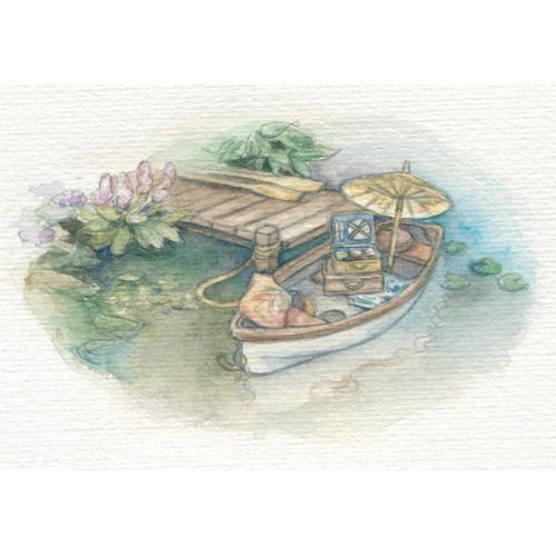Miniature Painting - Picnic Boat
