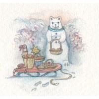 Miniature Painting - Snowbear with Sleigh