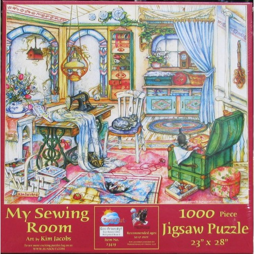 Puzzle - MY SEWING ROOM 1000 Piece from Sunsout