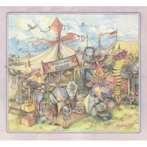 Windwaltz Kites - Original Watercolor Painting